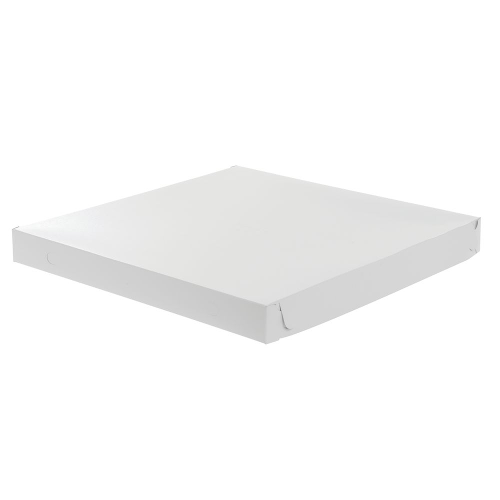 "Plain Pizza Box 18""L x 18""W x 1 7/8""H White"
