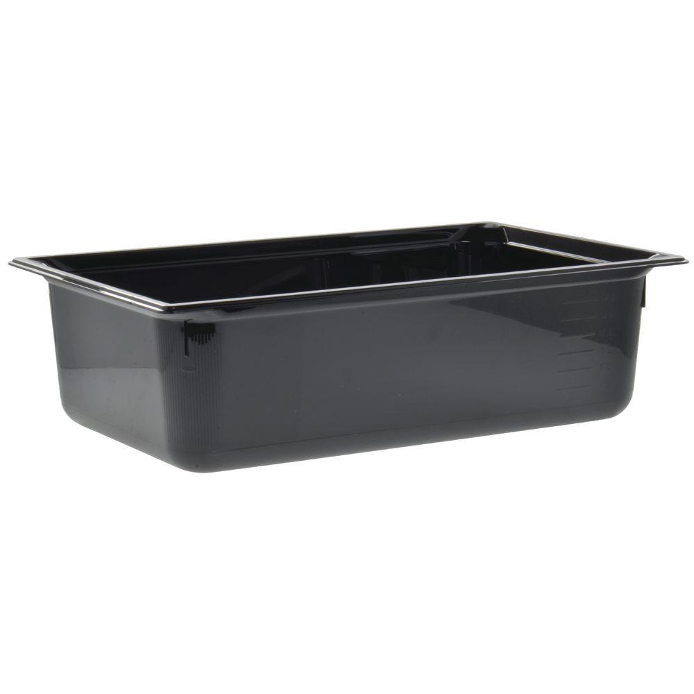 """Vollrath Super Pan Black Plastic Catering Pan Low Temp Full Size 6""""D"""