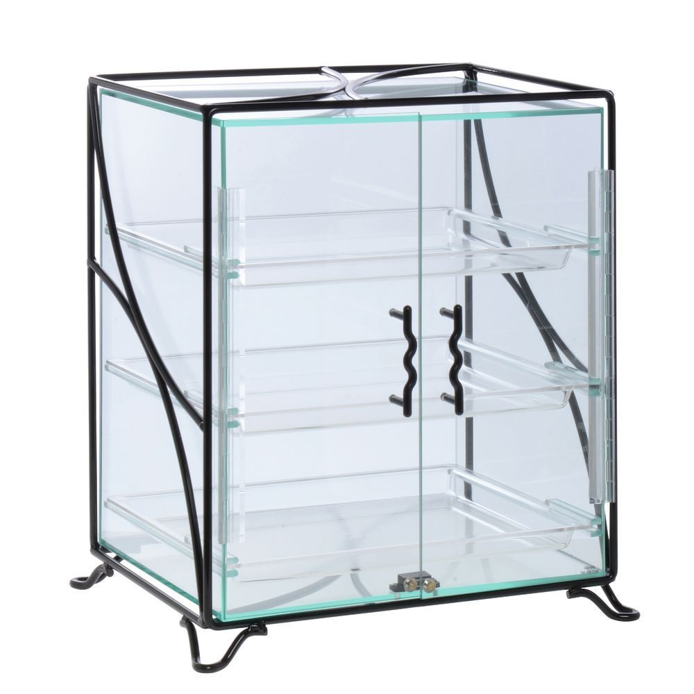 Countertop Bakery Display Case with Black Coated Wire Frame