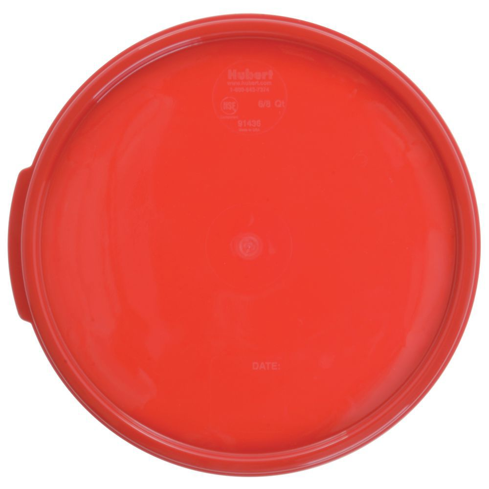 LID RED FOR RND6 8 QTCONT