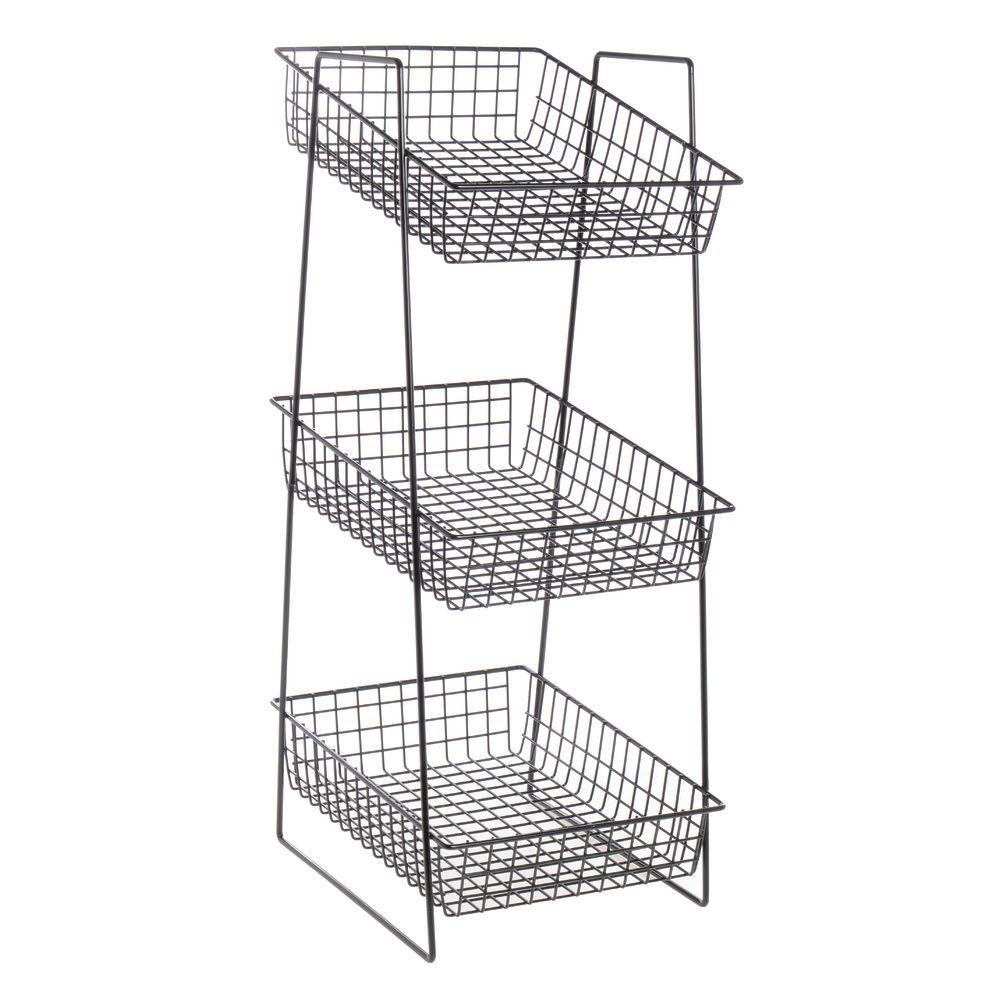 13 x 19 x 43 Size Winholt LSB-STD Steel Stand for Customer Shopping Basket