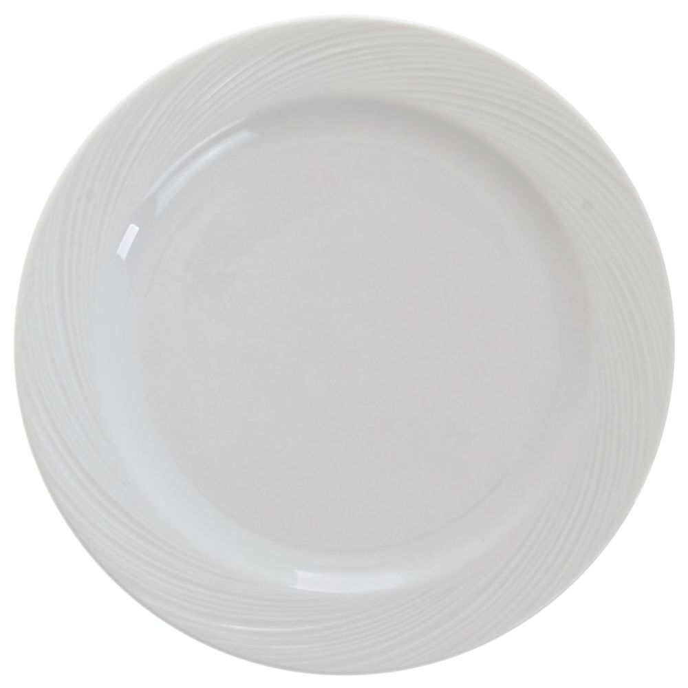 PLATE, LUNCHEON, ORBIS BRT WHITE