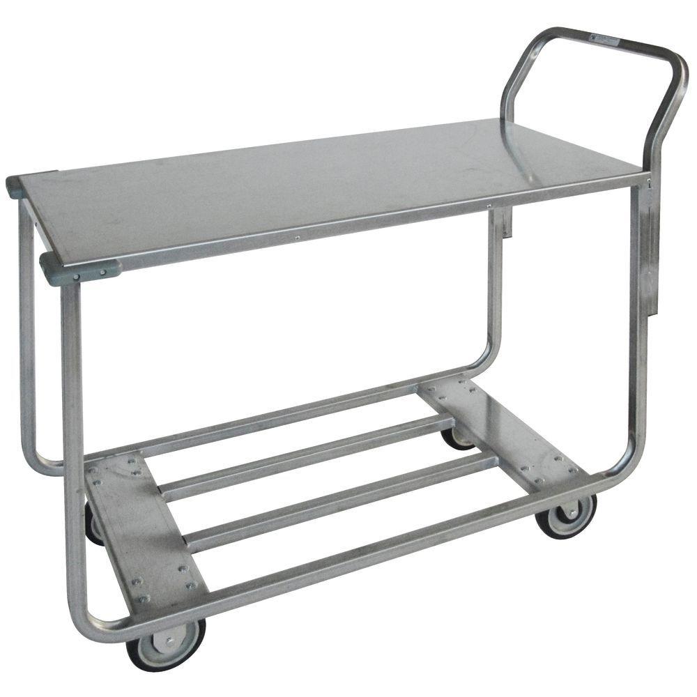 Metal Utility Cart: HUBERT® Galvanized Steel Utility Cart