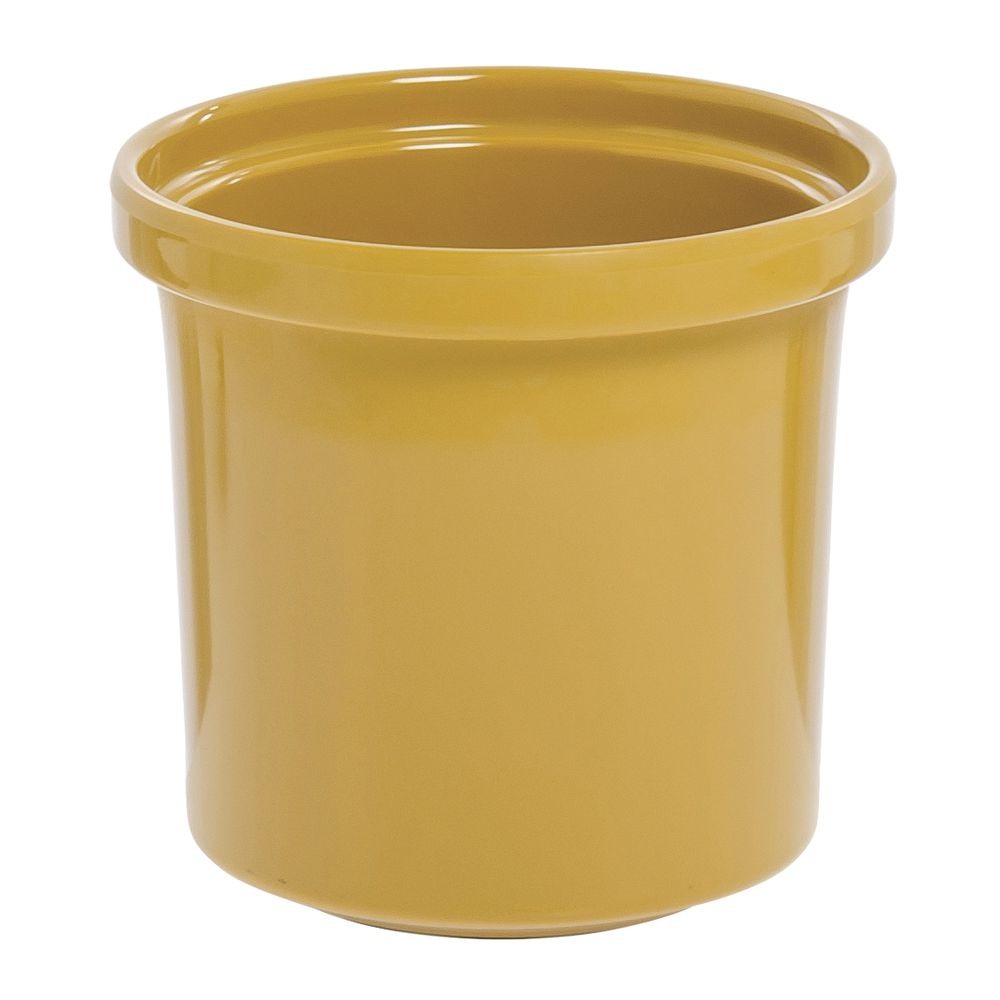"Expressly Hubert® Bain Marie Mustard Yellow 5""Dia x 5""H"