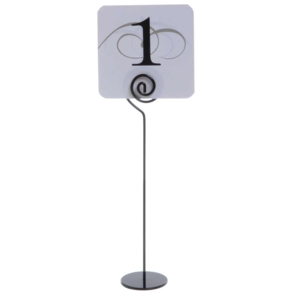 Cal-Mil Black Wire Table Number Holder - 2Dia x 9H