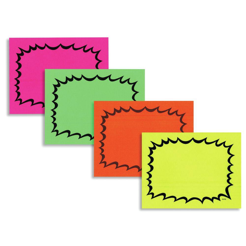Multi colored cardstock paper - Card Laser Fluor Burst 4 25x5 5 4 Per Sh