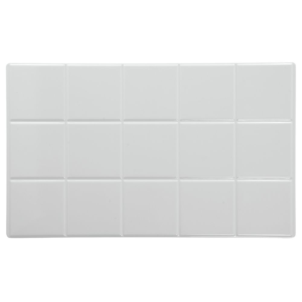 "Melamine Food Bar Tile Full Size Solid in White  21 1/2""L x 13 1/8""W"