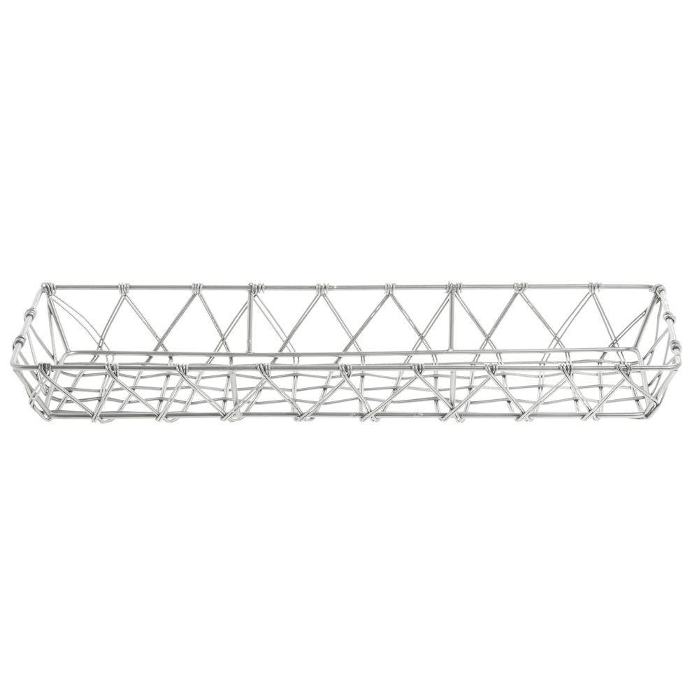 Expressly HUBERT® Urban Link Rectangular Tapered Silver Steel Basket - 17  1/2