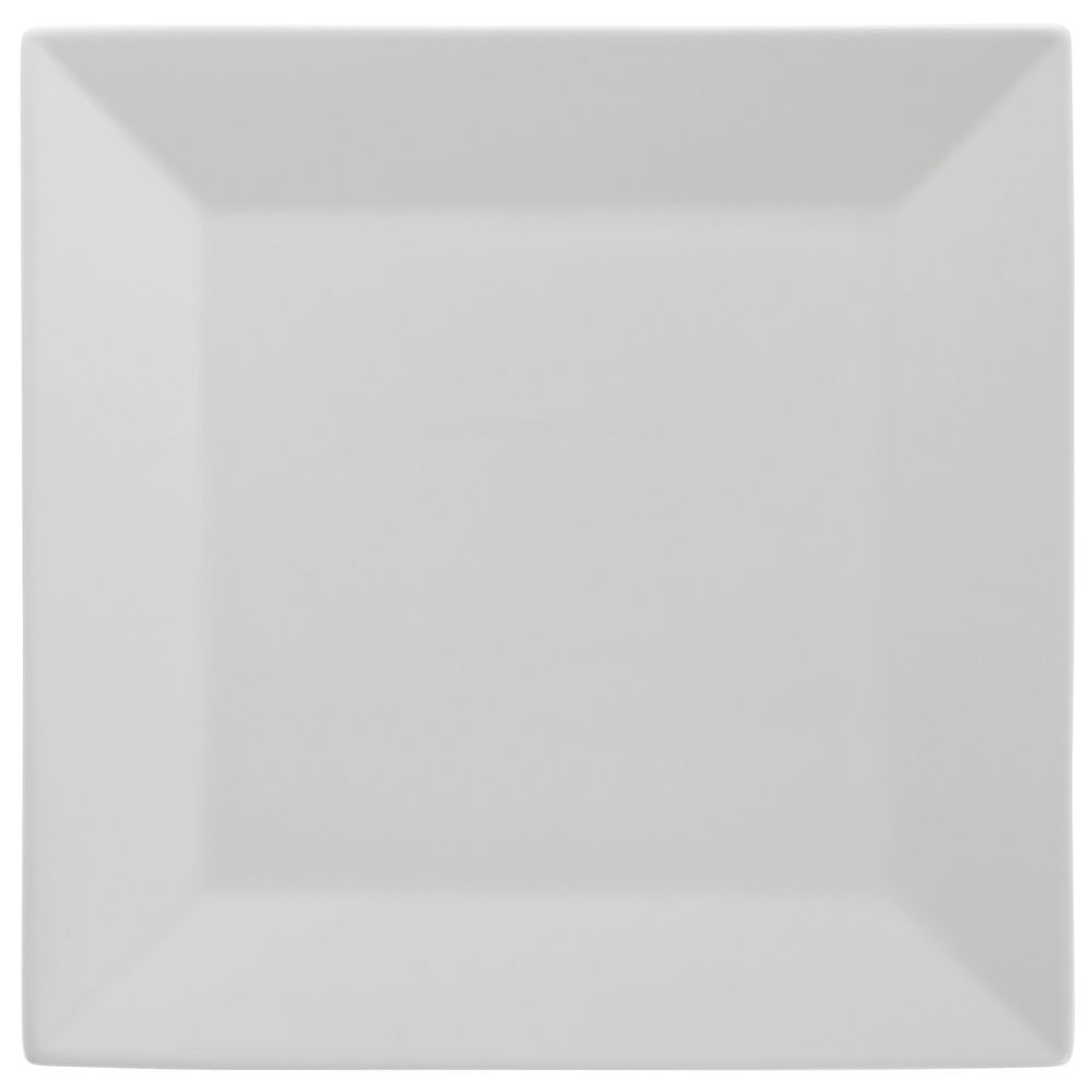 "Front Of The House Kyoto Square Plate 8 1/2"" Bright White Porcelain"
