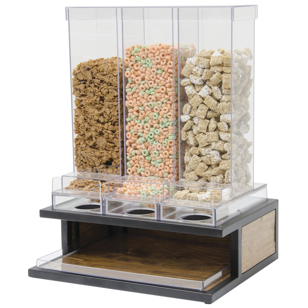 CEREAL DISPENSER, RECLAIMED WOOD, 3 SECT