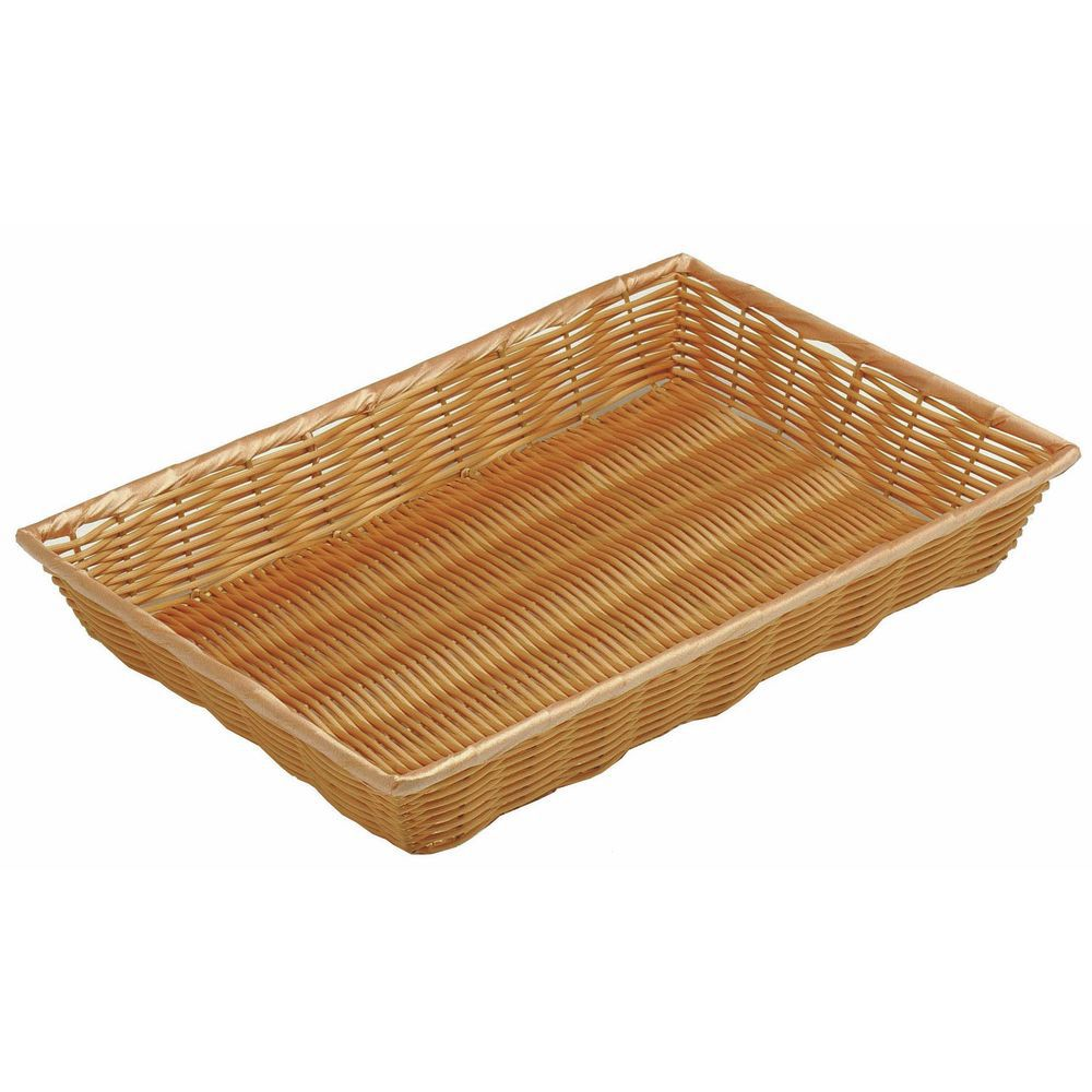 "BASKET, 18X12X2.5"", W/O HANDLE, NATURAL"