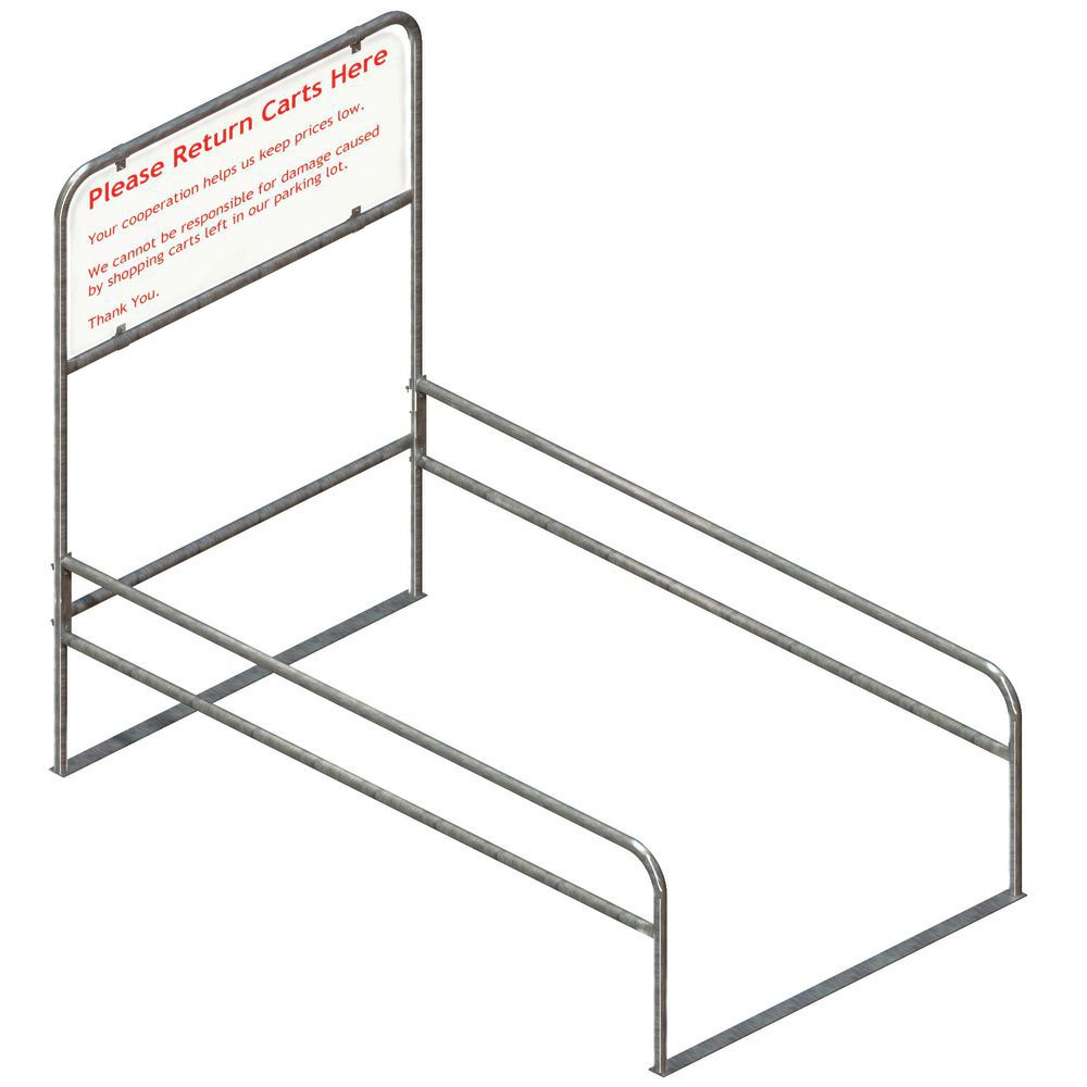 Shopping Cart Corrals with Galvanized Steel Tubing