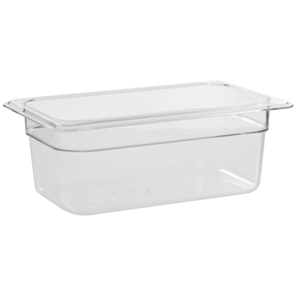 cambro camwear 1 4 size clear polycarbonate cold food pan 4 d. Black Bedroom Furniture Sets. Home Design Ideas