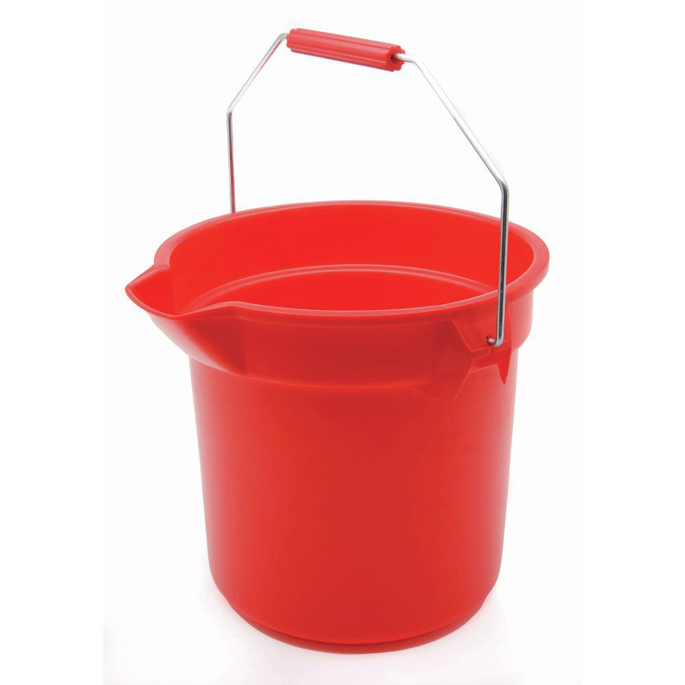 Rubbertmaid Brute 14qt Red Bucket