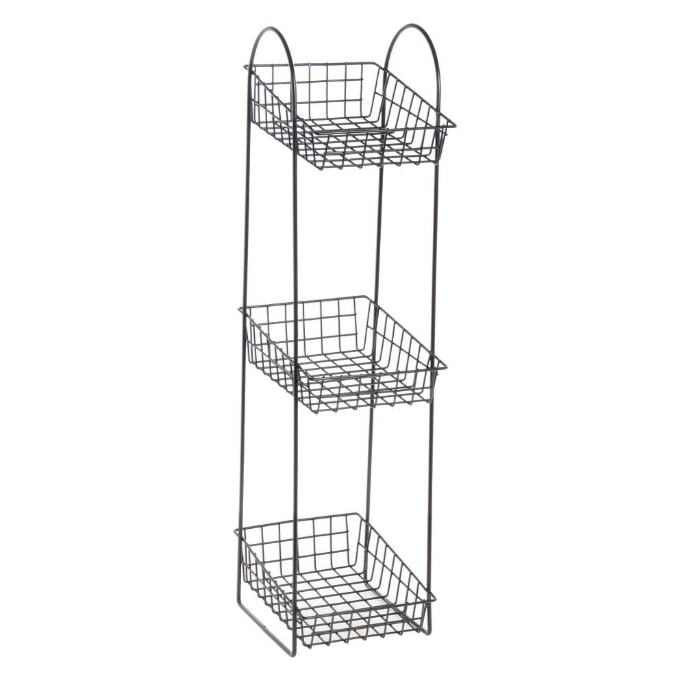 Black Metal Basket Stand Matches Anywhere