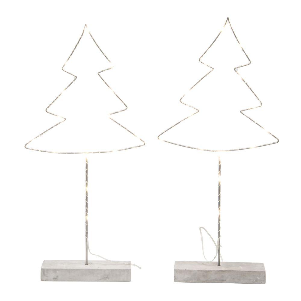 metal glee christmas tree stand with led lighting 9 14l x 2 12w x 20h - Metal Christmas Decoration Stand