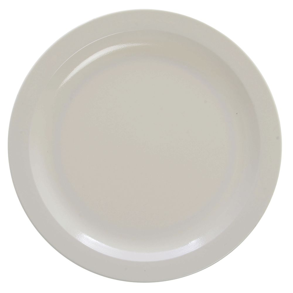 PLATE NARROW RIM 9 DIA. WHITE  sc 1 st  Hubert.com & Cambro Camwear Narrow Rim White Polycarbonate Dinner Plate - 9 Dia