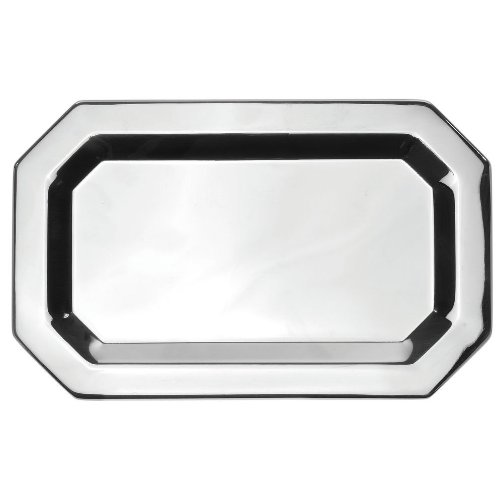 TRAY, SERVING, BASIC, OCTAGONAL, S/S, 10X6