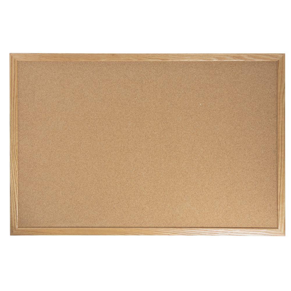 Aarco Oak Frame Cork Board 36l X 24h