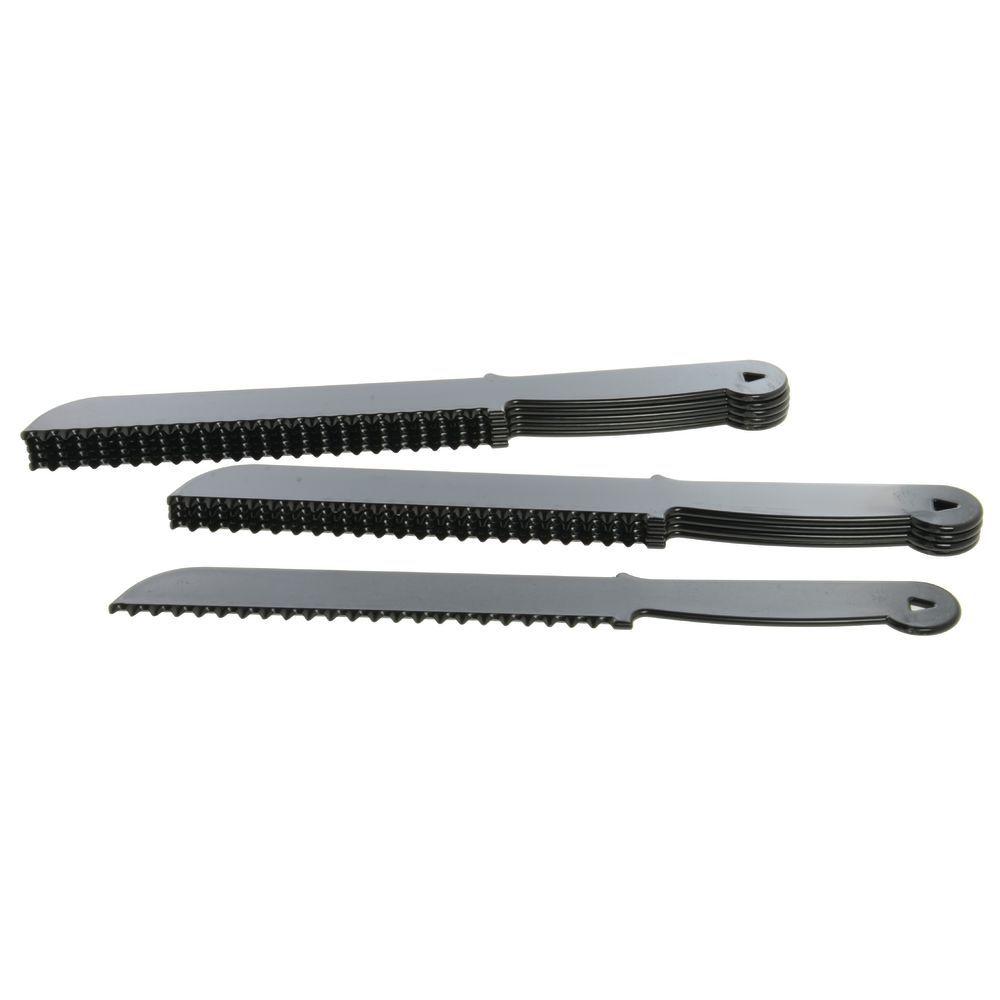 """KNIFE, 12""""BREAD, PLASTIC, BLK(BG10)"""