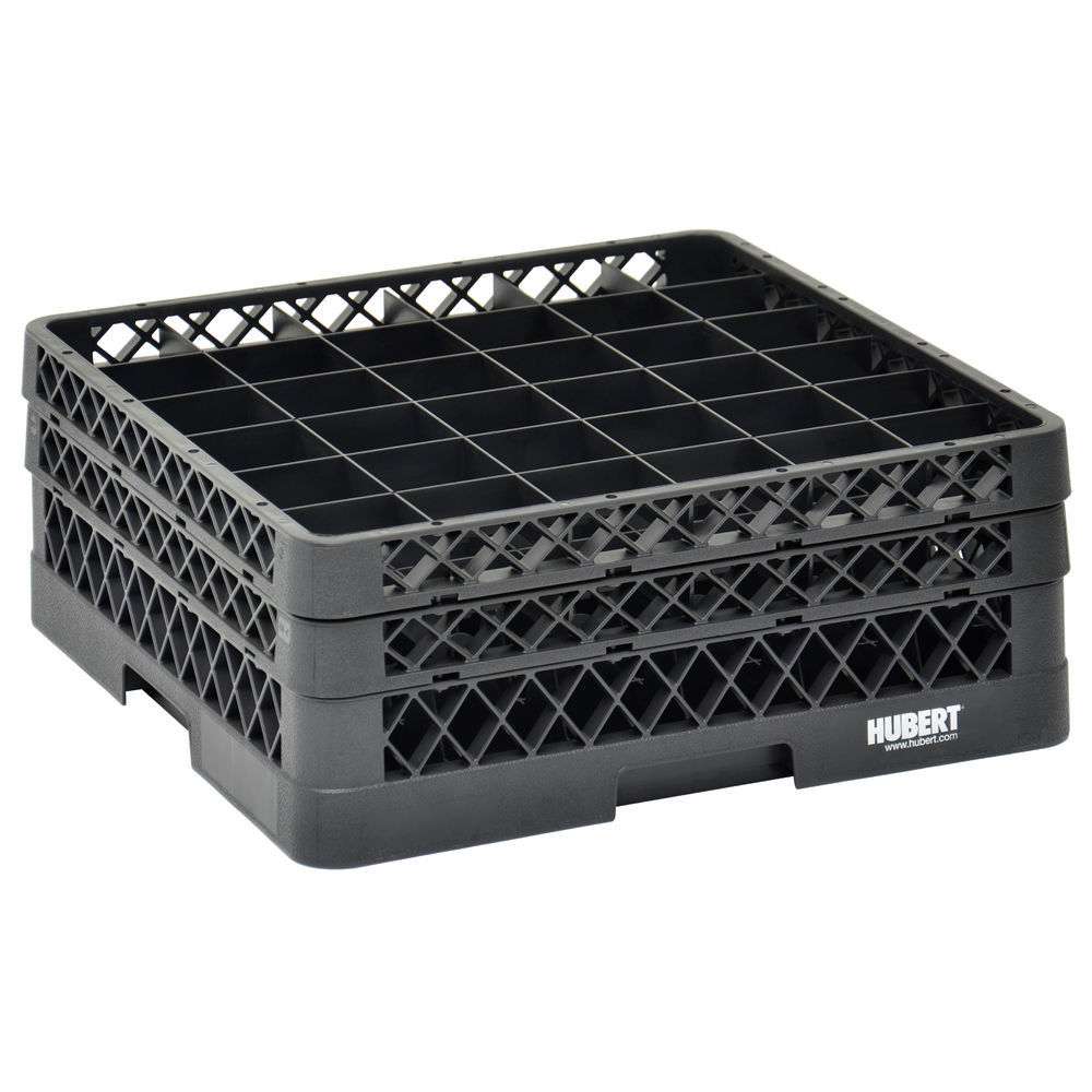 RACK, 36 COMPARTMENT, 2 EXTENDERS, BLACK