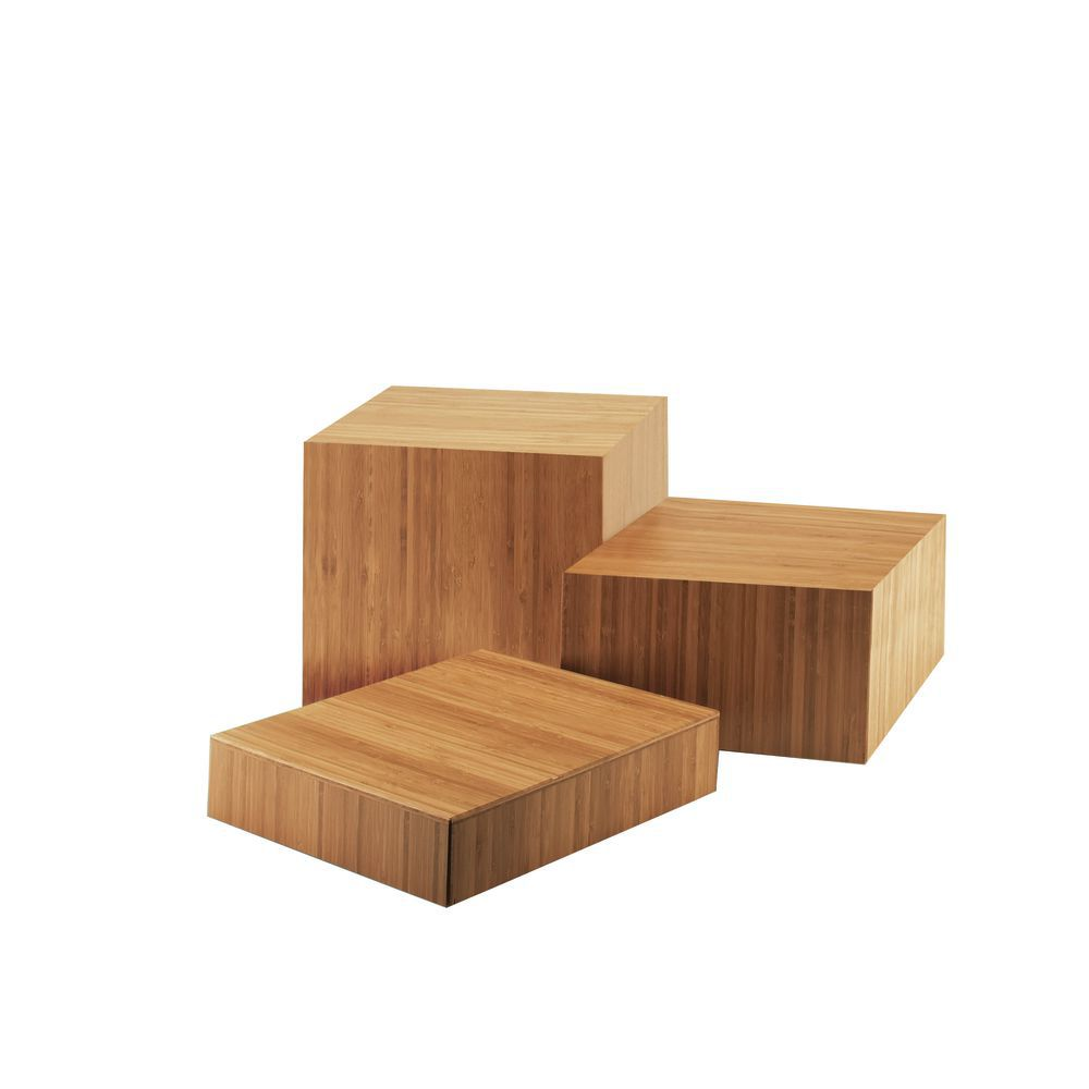 Bamboo Risers in Butcher Block Design