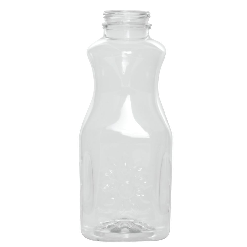 BOTTLE, JUICE, CLEAR, 16OZ