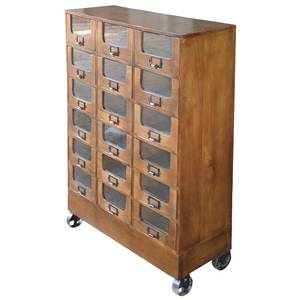 FIXTURE, APOTHECARY, 18-DRAWER, MOBILE, MANG