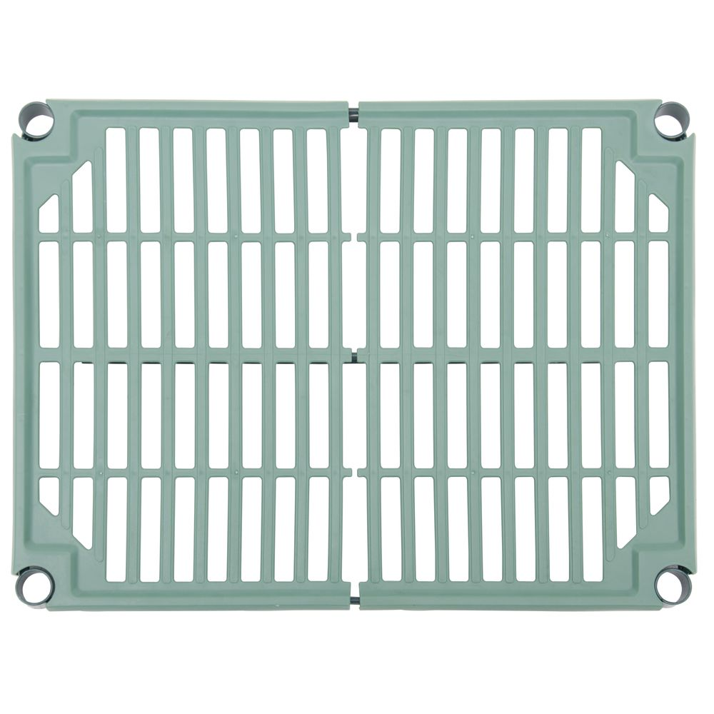 Focus FPS-Plus Green Plastic Vented Shelves Set Of 4 - 24\