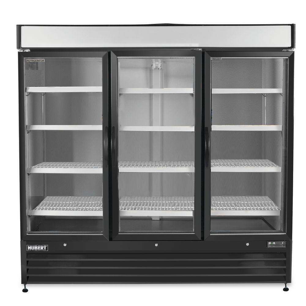 Hubert 72 Cu Ft 3 Door Merchandiser Refrigerator 81l X 31 1516w