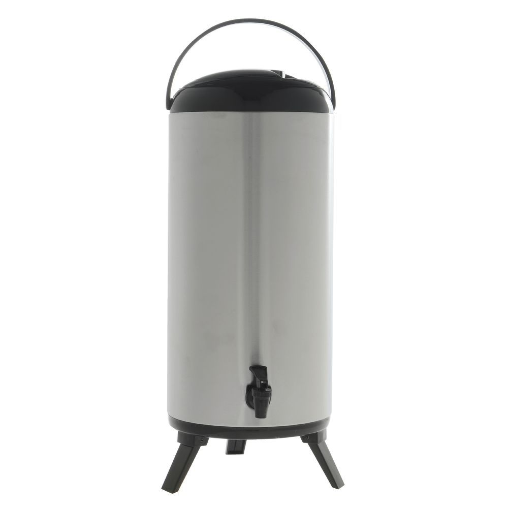 Stainless Steel Beverage Dispenser with 14 Liter Capacity