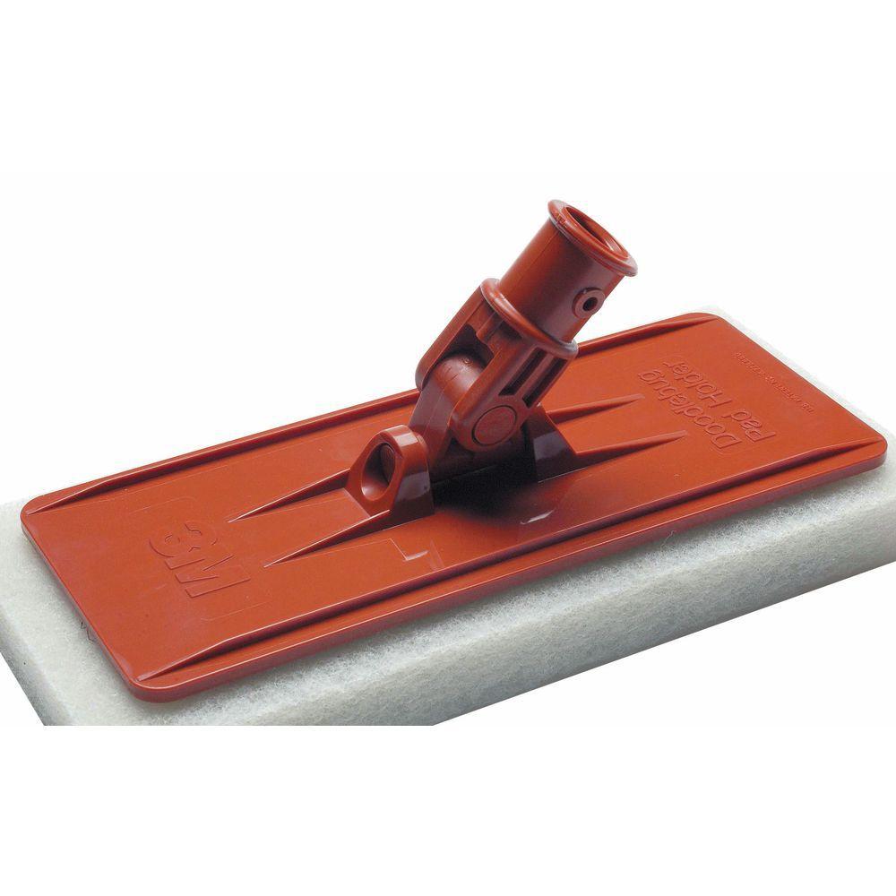 3m Orange Plastic Floor Scrubber Brush Pad Holder For
