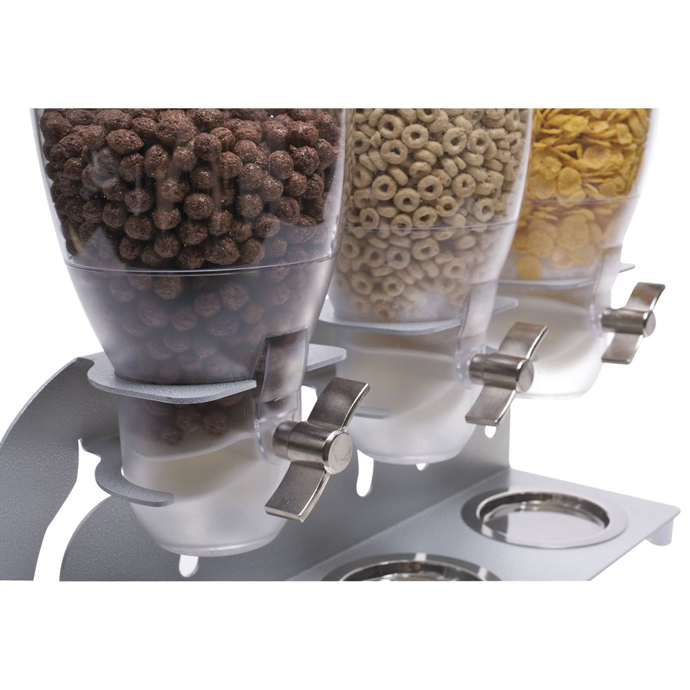 DISPENSER, CEREAL, 3-1.3 GALLON CONTAINERS