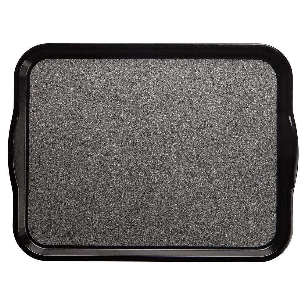 "Cambro Non-Skid Versa Camtray Tray with Handles in Black Fiberglass  20""L x 15""W"