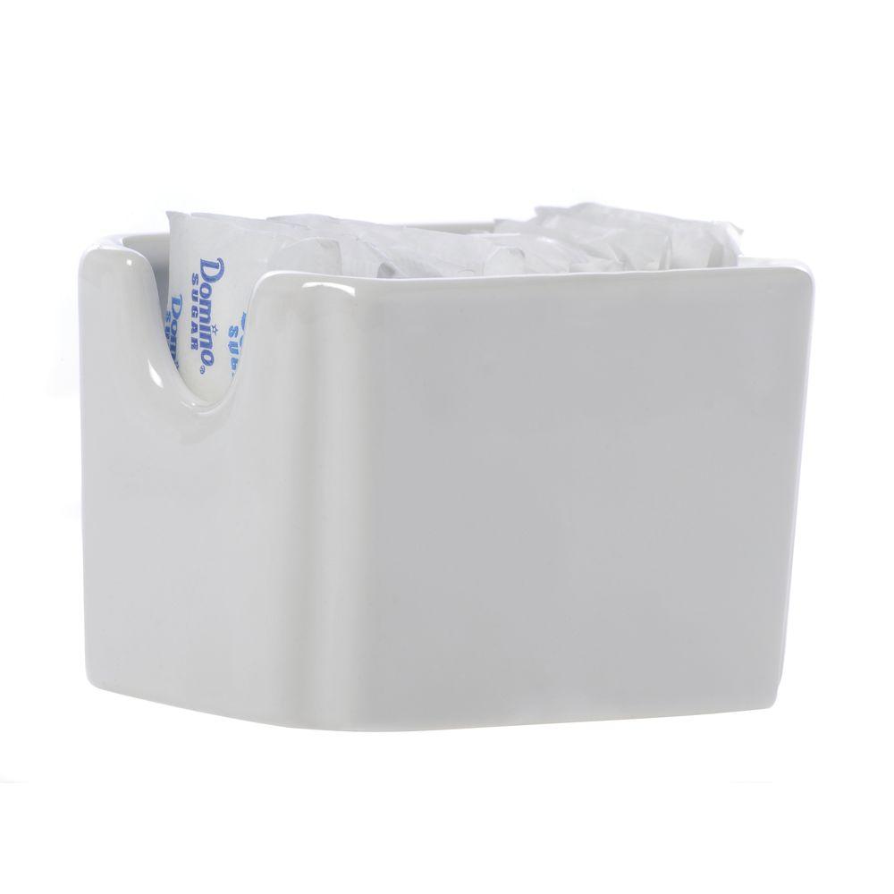 Hubert White Ceramic Sugar Packet Holder 3 1 2 L X 2 1 2 W X 2 3 8 H