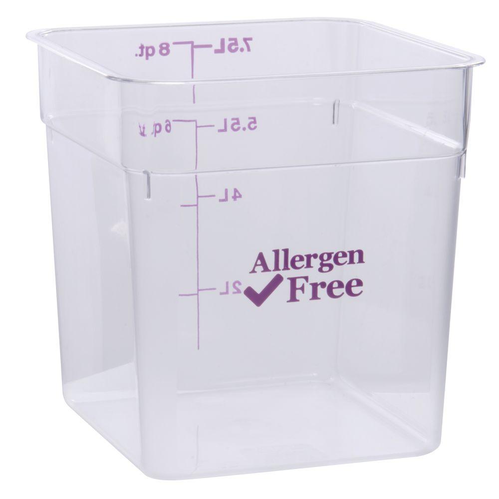 BOX, 8QT, ALLERGEN SAFE