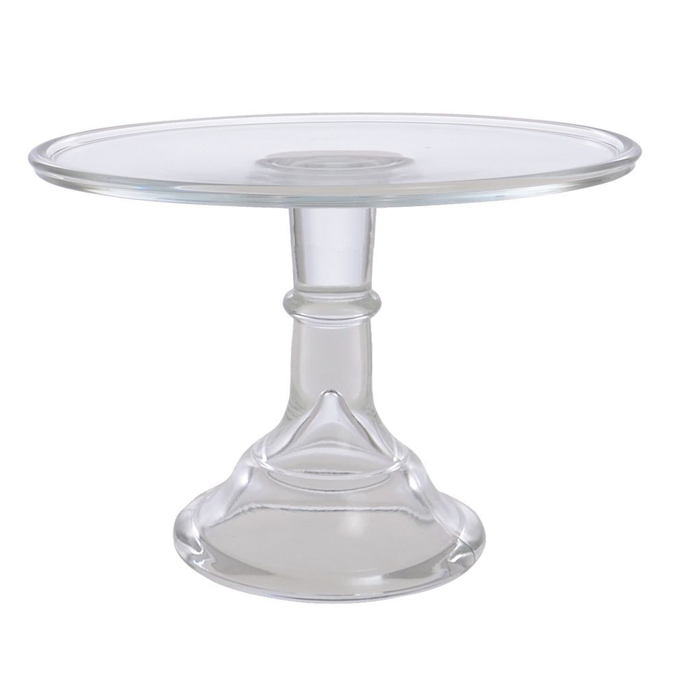 CAKE STAND, GLASS, 12DIAX9H, CRYSTAL