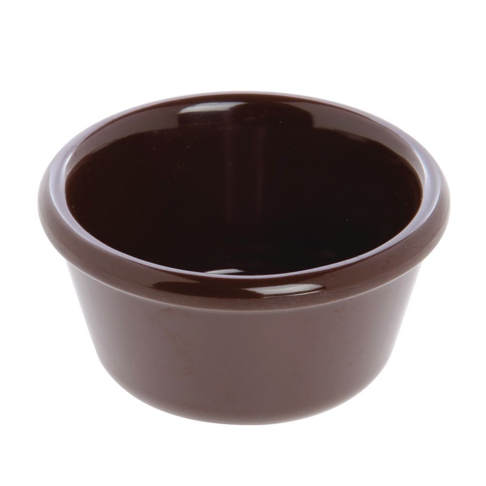 Carlisle Classic Ramekin Dishes 3 Oz. Chocolate Melamine