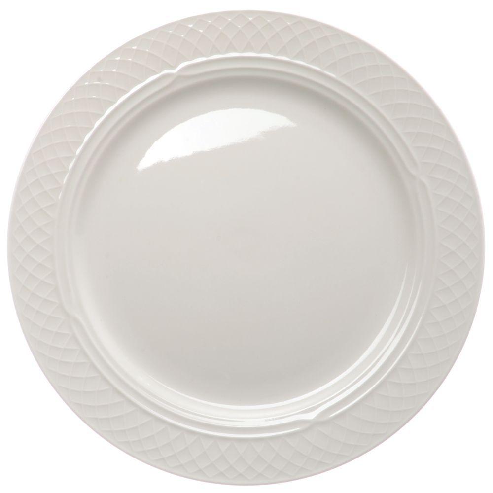 "4 Luncheon PLATES set lot white HOMER LAUGHLIN FIESTA WARE 9/"" NEW"