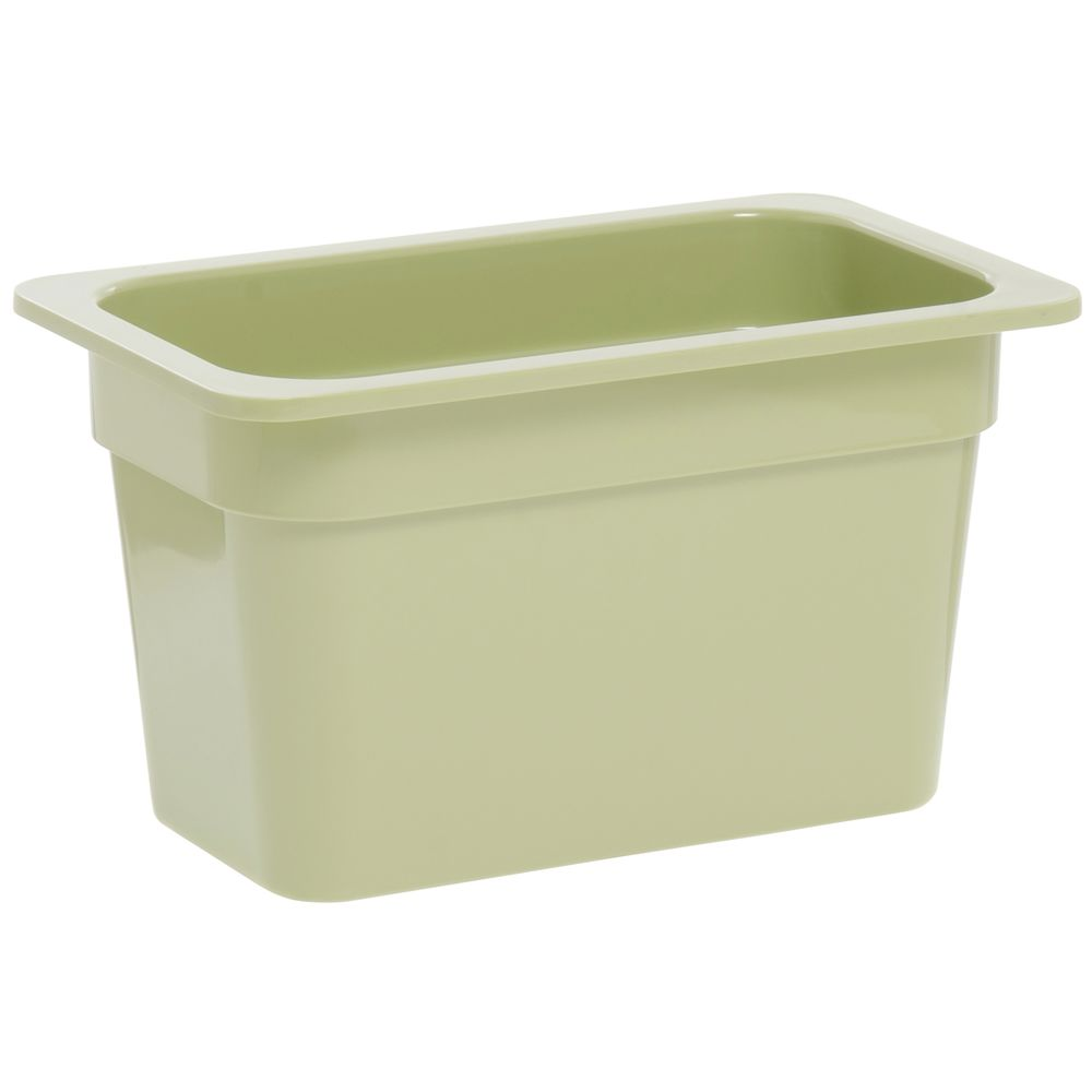 "Expressly Hubert® Fourth Size Melamine Pan 6""D Willow Green"