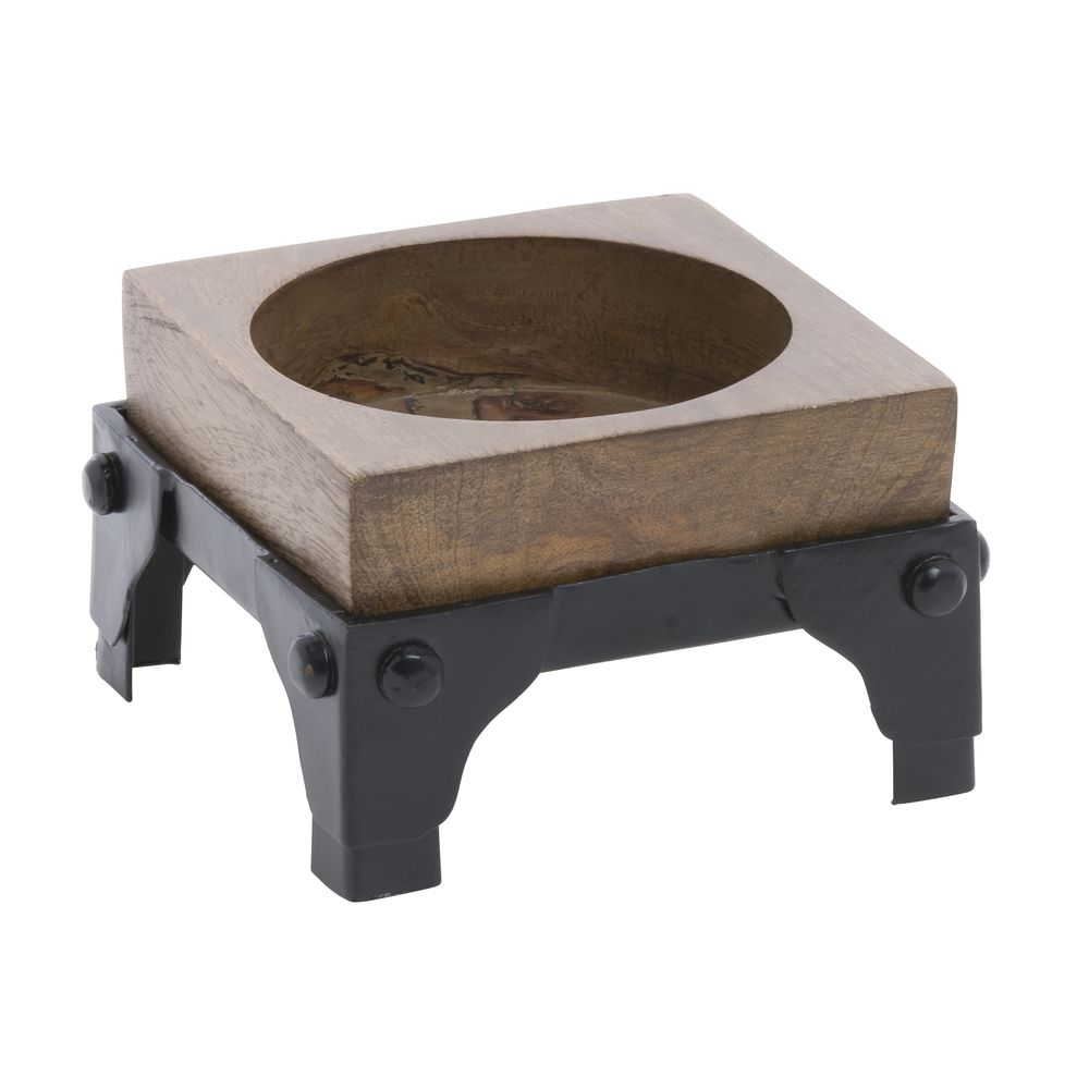 Expressly Hubert Small Mango Wood Iron Display Stand