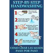 POSTER, FIRST AID, STEPS/HANDWASHING, 11X17