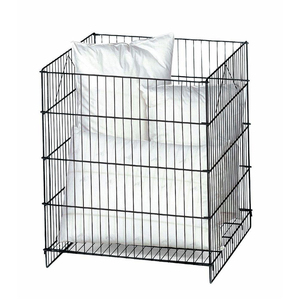 Dump Bin with Adjustable Bottom Shelf