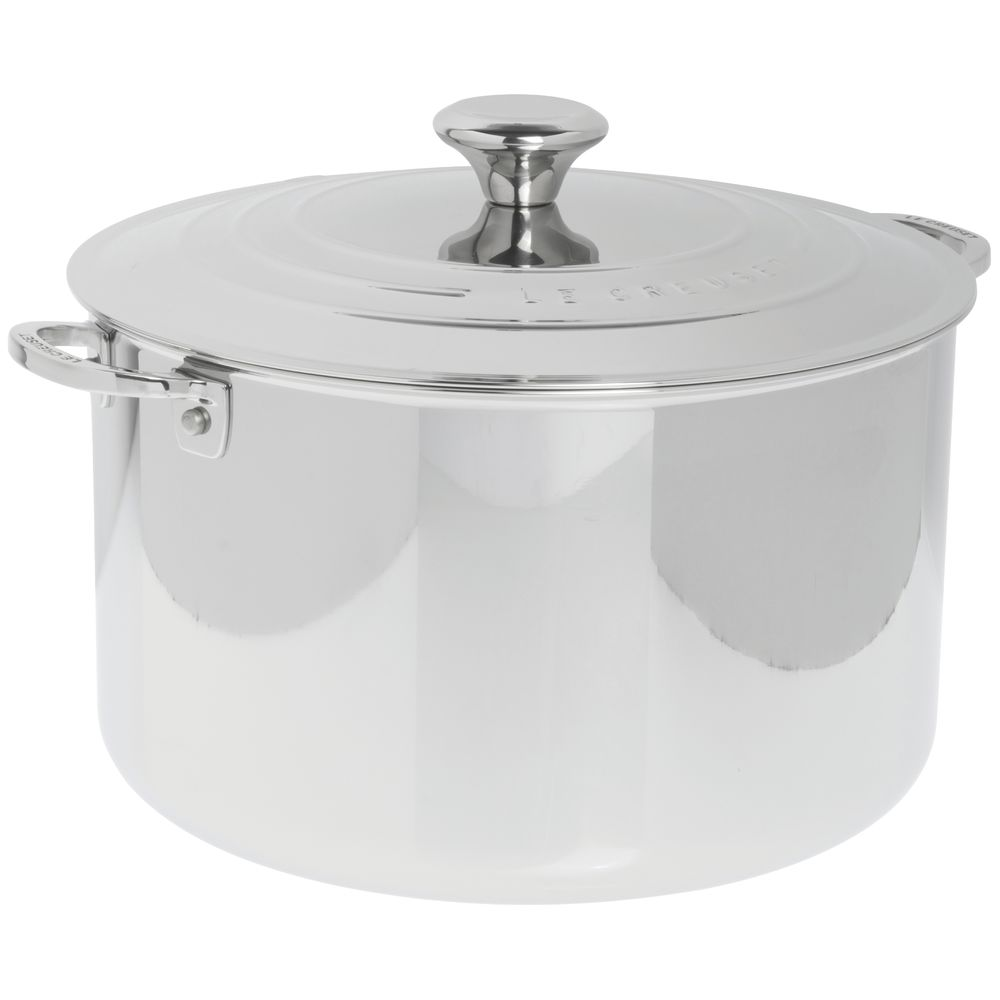 Le Creuset 11 Qt Tri Ply Stainless Steel Stock Pot With
