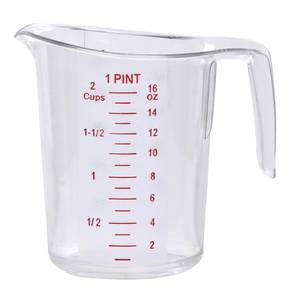 MEASURING CUP, 1 PINT/2 CUPS, POLYCARB, HB