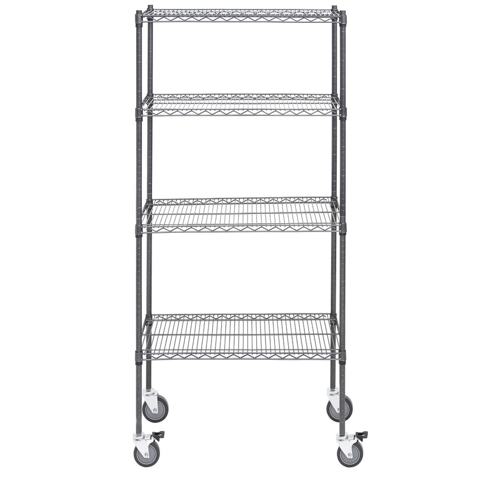 SHELF UNIT, HUB.4-SHF MOBILE, FLT, 18X36X80