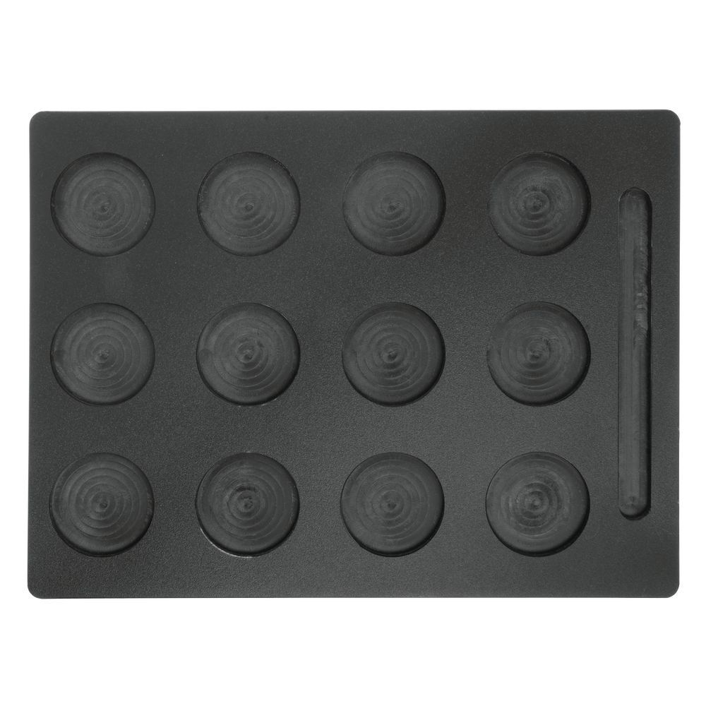 Cupcake Display Tray 12 Hole Black Plastic