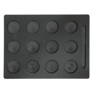 TRAY, 12-2.5DIAX1/4D HOLE, HDPE, MUFFIN, BLK