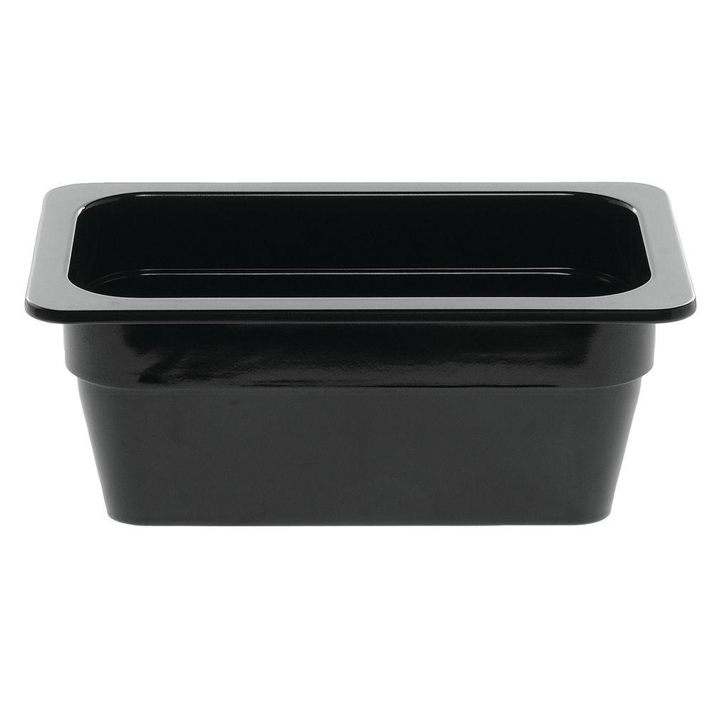"PAN, 1/4 SZ.4""D, BLACK, 6-3/8X10-7/8X4"