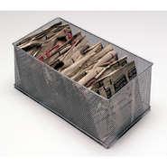 "BOX, MESH, 6""X12""X5""H, SILVER"
